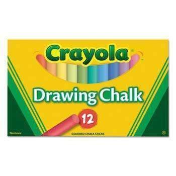 Janitorial SuperstoreCrayola® Colored Drawing Chalk, 12 Assorted Colors 12 Sticks/Set