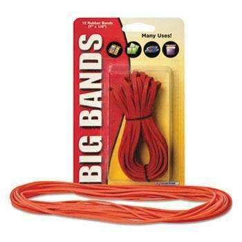 Janitorial SuperstoreAlliance® Big Bands Rubber Bands, 7 x 1/8, Red, 12/Pack