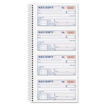 Janitorial SuperstoreAdams® Two-Part Rent Receipt Book, 2 3/4 x 4 3/4, Two-Part Carbonless, 200 Forms