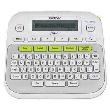 Janitorial Superstore Brother P-Touch® PTD210 Easy, Compact Label Maker, 2 Lines - Janitorial Superstore