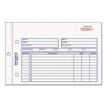 Janitorial Superstore Rediform® Invoice Book, 5 1/2 x 7 7/8, Carbonless Duplicate, 50 Sets/Book - Janitorial Superstore