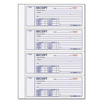 Janitorial SuperstoreRediform® Money Receipt Book, 2 3/4 x 7, Carbonless Triplicate, 200 Sets/Book