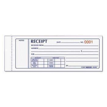 Janitorial SuperstoreRediform® Receipt Book, 2 3/4 x 7, Carbonless Triplicate, 50 Sets/Book