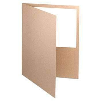 Janitorial Superstore100% Recycled Paper Twin-Pocket Portfolio, Natural