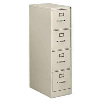 Hon HON® 510 Series Four-Drawer, Full-Suspension File, Letter, 52h x25d, Light Gray - Janitorial Superstore