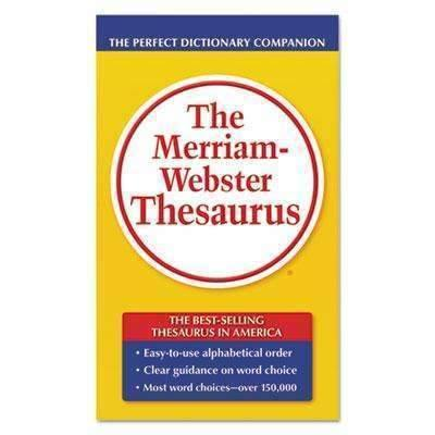 Janitorial Superstore ADVANTUS CORPORATION The Merriam-Webster Thesaurus, Dictionary Companion, Paperback, 800 Pages - Janitorial Superstore