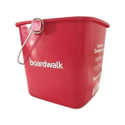 Janitorial Superstore Sanitizing Bucket, 6 qt, Red, Plastic - Janitorial Superstore