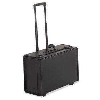 Janitorial Superstore STEBCO Tufide Rolling Catalog Case, Vinyl, 22 1/4 x 9 x 13 1/2, Black - Janitorial Superstore