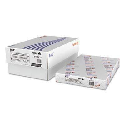 XEROX CORP. Text Bold Coated Glossy 80lb  Digital Printing Office Paper, 11 x 17, White, 500 Sheets/RM (1437099884616)