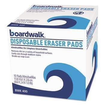 Janitorial SuperstoreBoardwalk® Disposable Eraser Pads, 10/Box