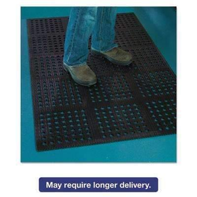 Janitorial SuperstoreE.s. Robbins Pro Lite Four-Way Drain Mat, 36 x 120, Black