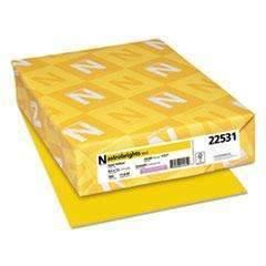 Janitorial SuperstoreNEENAH PAPER Color Paper, 24lb, 8 1/2 x 11, Solar Yellow, 500/RM