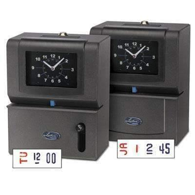 Janitorial SuperstoreLATHEM TIME CORPORATION Heavy-Duty Time Clock, Mechanical, Charcoal