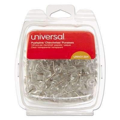 "Janitorial Superstore Universal® Clear Push Pins, Plastic, 3/8"", 100/Pack - Janitorial Superstore"