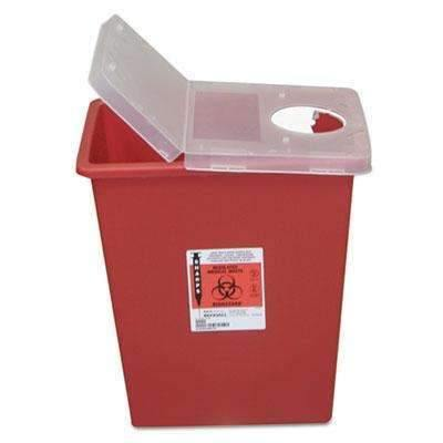 UNIMED Sharps Containers, Polypropylene, 8 gal, 15 1/2 x 11 x 17 3/4, Red