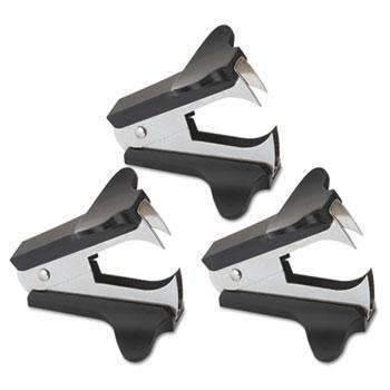 Janitorial SuperstoreUniversal® Jaw Style Staple Remover, Black, 3 per Pack