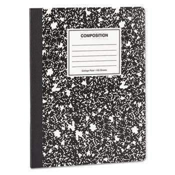 Janitorial SuperstoreUniversal® Composition Book, College Rule, 9 3/4 x 7 1/2, White, 100 Sheets