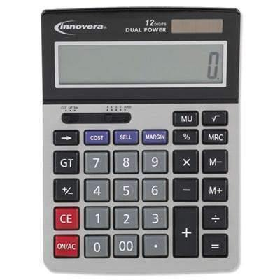 Janitorial SuperstoreInnovera® 15968 Minidesk Calculator, 12-Digit LCD