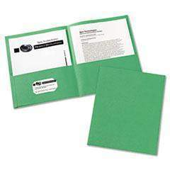 Janitorial Superstore Avery 47987 Two-Pocket Folder, 40-Sheet Capacity, Green (Box of 25) - Janitorial Superstore