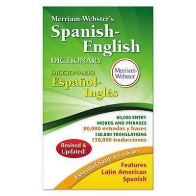 Janitorial Superstore ADVANTUS CORPORATION Merriam-Webster's Spanish-English Dictionary, 928 Pages - Janitorial Superstore