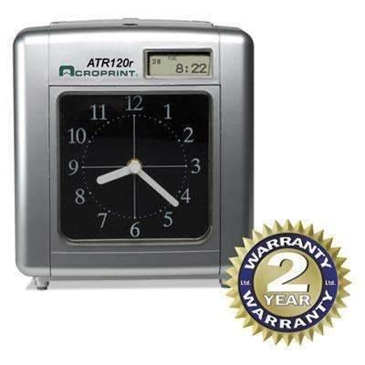 Janitorial SuperstoreACRO PRINT TIME RECORDER Model ATR120 Analog/LCD Automatic Time Clock