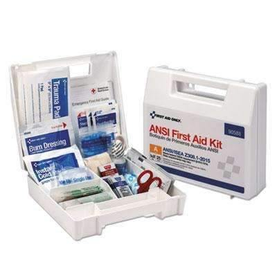 First Aid OnlyFirst Aid Only 90588 25 Person Bulk Plastic First Aid Kit, ANSI Compliant