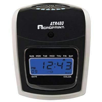 Janitorial SuperstoreACRO PRINT TIME RECORDER ATR480 Time Clock Bundle, LCD, Automatic, White/Charcoal
