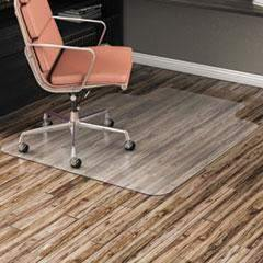 Alera Alera All Day Use Non-Studded Chair Mat for Hard Floors, 36 x 48, Lipped, Clear - Janitorial Superstore