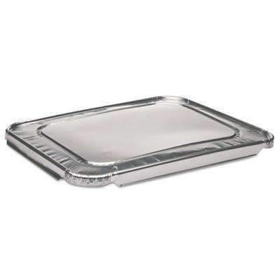 Janitorial SuperstoreSilver Aluminum Half Size Flat Lid - 12.31 x 9.94 x .63 100 cs