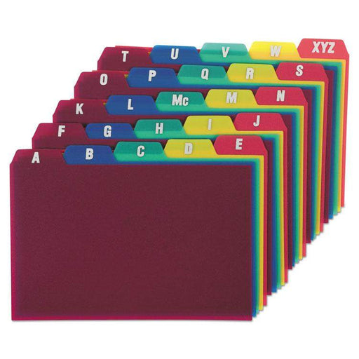 Oxford Oxford A-Z Poly Filing Index Cards - Janitorial Superstore