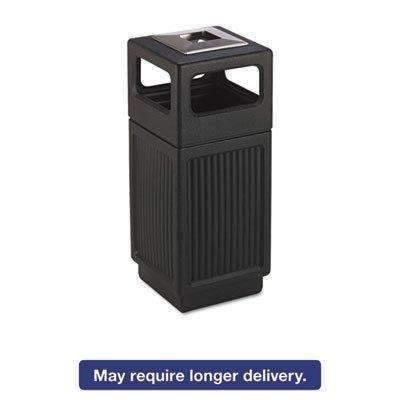 Janitorial Superstore SAFCO PRODUCTS Canmeleon Ash/Trash Receptacle, Square, Polyethylene, 15gal, Textured Black - Janitorial Superstore