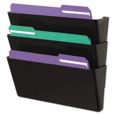 Universal Products Universal Wall File, Add-On Pocket, Plastic, Black - Janitorial Superstore