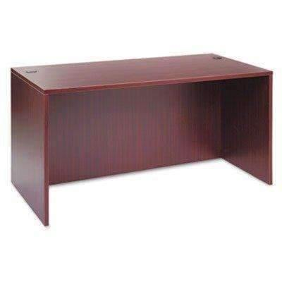 Janitorial Superstore ALERA Alera Valencia Series Straight Desk Shell, 59 1/8w x 29 1/2d x 29 5/8h, Mahogany - Janitorial Superstore