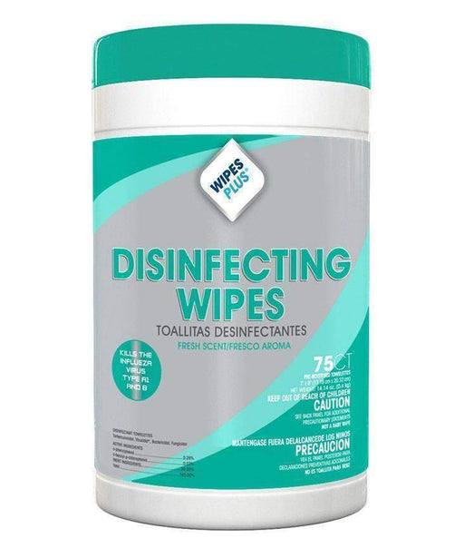 Wipes Plus Wipes Plus 33711 Disinfectant Surface Wipes, 75 Count - Janitorial Superstore