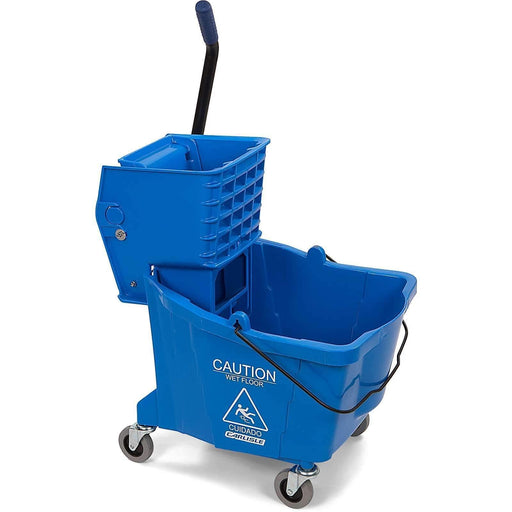 Janitorial Superstore Commercial Mop Bucket with Side-Press Wringer 35 Quart - Blue - Janitorial Superstore