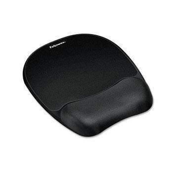 Janitorial SuperstoreFellowes® Mouse Pad w/Wrist Rest, Nonskid Back, 7 15/16 x 9 1/4, Black