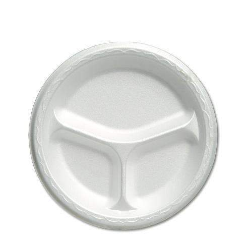 Call for PricingWhite 3 Compartment Foam Plate - 10.25