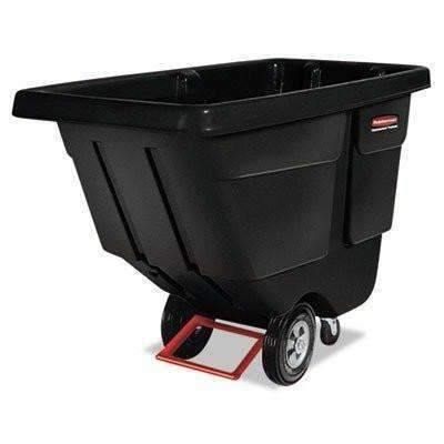 Janitorial Superstore Rubbermaid Commercial Tilt Truck, Utility Duty, 450-lb. Cap., Black (RCP 1304 BLA) - Janitorial Superstore