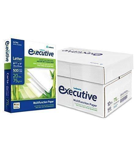 "Ledesma Executive Multifunction Copy Paper, 8.5"" x 11"", 20 lbs, 96 Brightness, 5,000/Case"