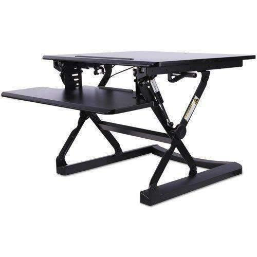 Janitorial SuperstoreALERA AdaptivErgo Sit-Stand Lifting Workstation, 26 3/4 x 31 x 19 5/8, Black