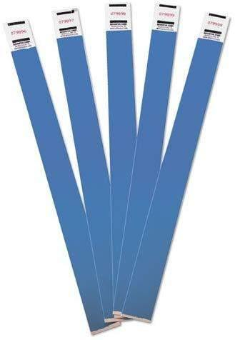 Janitorial SuperstoreManagement Wristbands, Sequentially Numbered, 9 3/4 x 3/4, Blue, 500/Pack