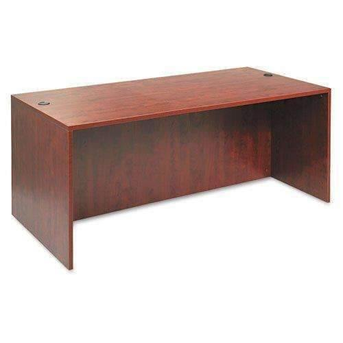 Janitorial SuperstoreALERA Alera Valencia Series Straight Desk Shell, 71w x 35 1/2d x 29 5/8h, Med Cherry