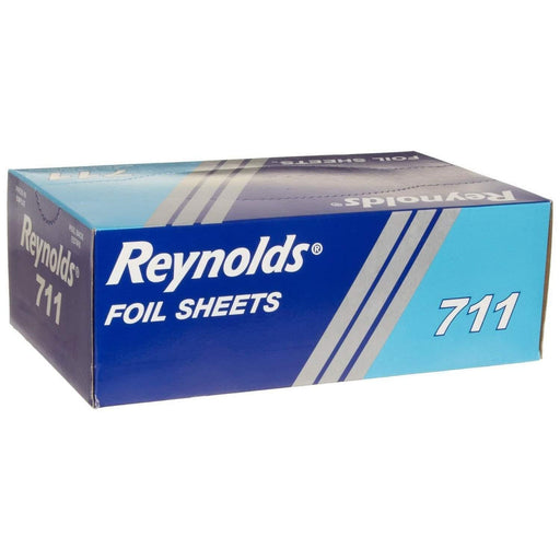 "Pactiv Reynolds Pop-Up Aluminum Foil Sheets - 9"" x 10.75"" Box, 500 Sheets - Janitorial Superstore"