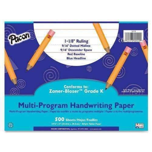 Janitorial SuperstorePACON CORPORATION Multi-Program Handwriting Paper, 16 lbs., 8 x 10-1/2, White, 500 Sheets/Pack