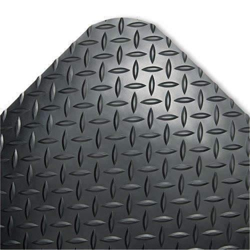 Janitorial SuperstoreROWN MATS amp; MATTING CD0023DB Industrial Deck Plate Anti-Fatigue Mat, Vinyl, 24 x 36, Black