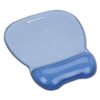 Janitorial Superstore Innovera® Gel Mouse Pad w/Wrist Rest, Nonskid Base, 8-1/4 x 9-5/8, Blue - Janitorial Superstore