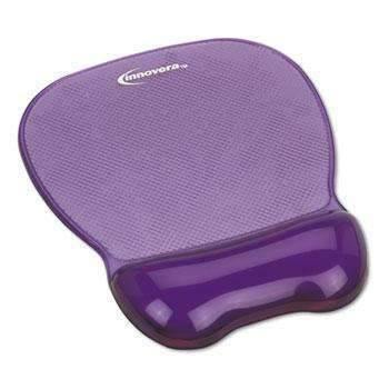 Janitorial SuperstoreInnovera® Gel Mouse Pad w/Wrist Rest, Nonskid Base, 8-1/4 x 9-5/8, Purple