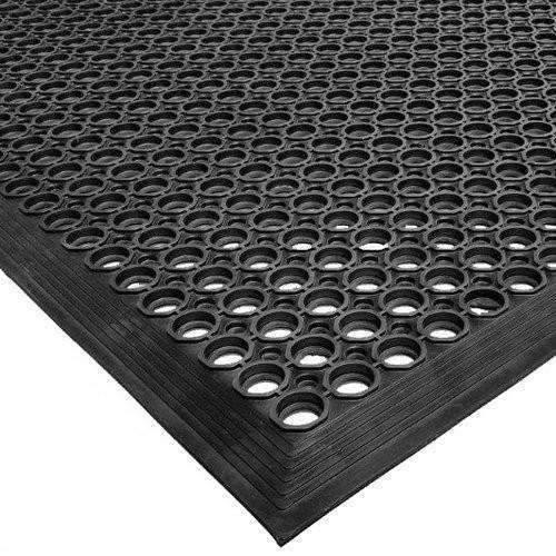Janitorial Superstore Rubber Vip Topdek Molded Bevel Edge Mats Junior Version, 3' x 5', Black - Janitorial Superstore