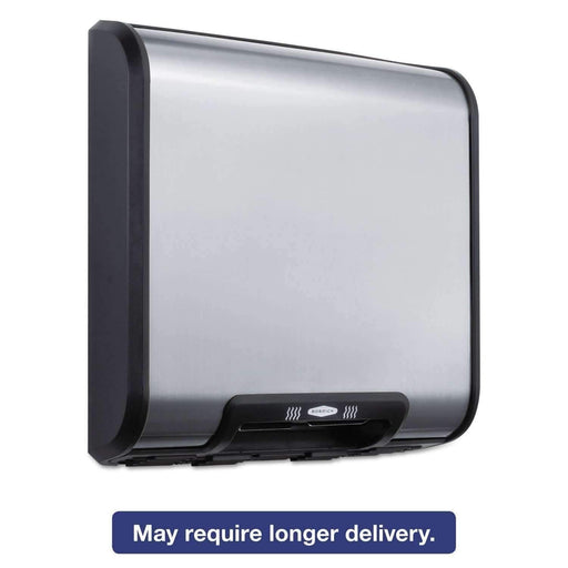Janitorial SuperstoreBobrick TrimLine ADA Automatic Hand Dryer 115V 1725 Watts Stainless Steel/Black