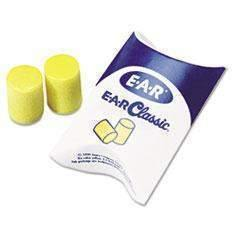 Janitorial Superstore3M/COMMERCIAL TAPE DIV. E·A·R Classic Earplugs, Pillow Paks, Uncorded, PVC Foam, Yellow, 200 Pairs